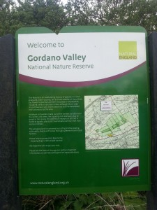 Gordano Valley NNR sign